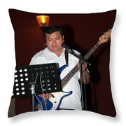 Musicians In The Park Candelaria In Valladolid Throw Pillow