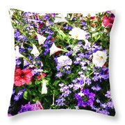 Myriad Colors Throw Pillow
