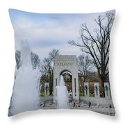 National World War II Memorial Throw Pillow