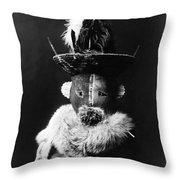 Navajo Mask, C1905 Throw Pillow
