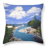 Negril Jamaica Throw Pillow