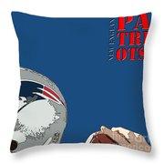 New England Patriots Original Typography Football Team Throw Pillow