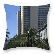 New Orleans Cable Car Throw Pillow