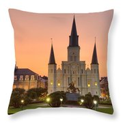 New Orleans St Louis Cathedral Throw Pillow