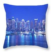 New York City Ny Throw Pillow