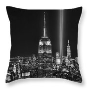 New York City Tribute In Lights Empire State Building Manhattan At Night Nyc Throw Pillow