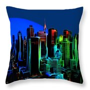 New York Colors Throw Pillow