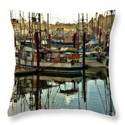 Newport Marina Throw Pillow