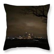 Nightlife In Cleveland Throw Pillow
