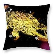 Nile River Crocodile Throw Pillow