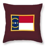 North Carolina Flag. Throw Pillow