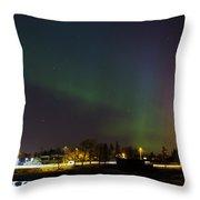 Northern Lights Aurora Borealis In Northern Europe Throw Pillow