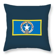 Northern Marianas Flag Throw Pillow