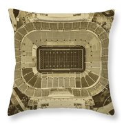 Notre Dame Stadium Throw Pillow