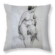 Nude Study Throw Pillow