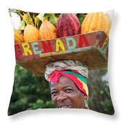 Nutmeg Woman. Throw Pillow