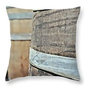 Oak Wine Barrel Throw Pillow