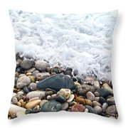 Ocean Stones Throw Pillow by Stelios Kleanthous