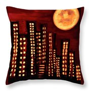 Wild L.a Moon Throw Pillow