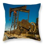 Oil Rig  Throw Pillow