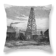 Oil Well, 19th Century Throw Pillow