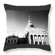 Old Courthouse Throw Pillow