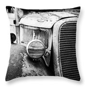 Old Farm Ford - Pov 1 Bw Throw Pillow