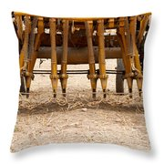 Old Tractors  Throw Pillow
