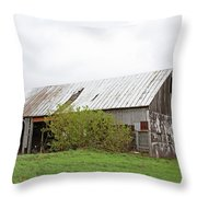 Old Weathered  Barn  Throw Pillow