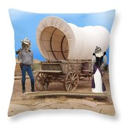 Old West Cats  Throw Pillow
