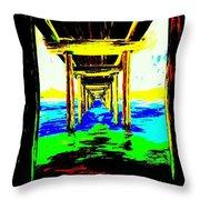 Old Wooden Pier Throw Pillow
