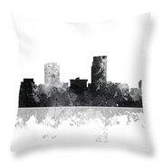 Omaha Nebraska Skyline Throw Pillow