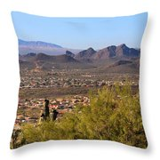 On Top Of A Mountain Throw Pillow