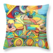 One Day On The Lake Throw Pillow