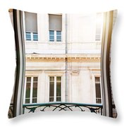Open Window In Toulouse Throw Pillow