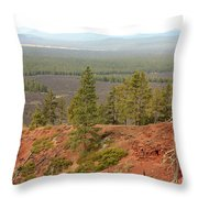 Oregon Landscape - View From Lava Butte Throw Pillow
