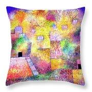 Oriental Pleasure Garden Throw Pillow