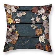 Original Autumn Foliage Throw Pillow
