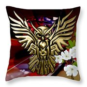 Owl In Flight Collection Throw Pillow