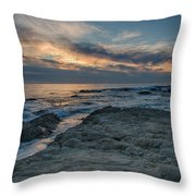 Pacific Grove Sunset Throw Pillow