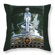 Packard Hood Ornament Throw Pillow