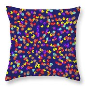 Pacman Seamless Generated Pattern Throw Pillow