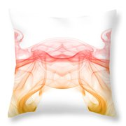painting with smoke XIII - mirrored Throw Pillow