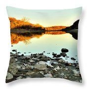 Palisades-kepler State Park - Mt. Vernon, Ia Throw Pillow