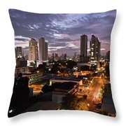 Panama City At Night Throw Pillow