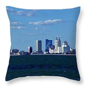 Panoramic View Of Atlantic City, New Jersey Throw Pillow