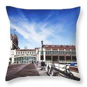 Paramount Theatre - Asbury Park Boardwalk Throw Pillow