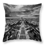 Paris Panorama Throw Pillow