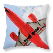 Passenger Jet Coming In For Landing  Throw Pillow