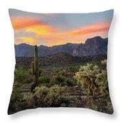 Pastel Desert Skies  Throw Pillow